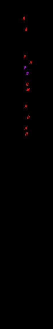 Примеры замещения в дактилических рифмах